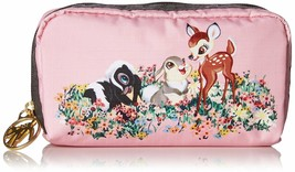 Disney × LeSportsac Bambis Buddies Rectangular Cosmetic Pouch Pink Acces... - $84.15