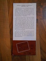 Old Vintage Paper Brochure The Abraham Lincoln Home Illinois Dept Public... - $9.99