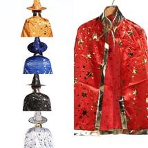 Kids Children Witch Wizard Cloak Cosplay Costume Day New Year Halloween ... - $19.99