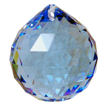 Swarvoski Strass Crystal 30mm Faceted Ball Prism  Sapphire image 1