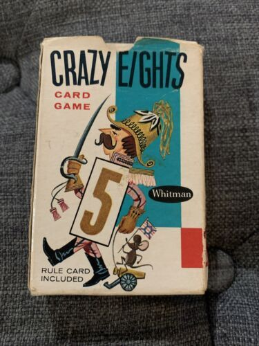 Primary image for Vintage 1951 COMPLETE Whitman CRAZY EIGHTS Card Game