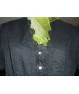 Authentic Vintage HOPE REED  Black Frock Dress with lovely Black Lace De... - $78.39