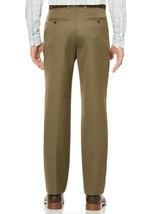 NEW PERRY ELLIS TRAVEL LUXE NON IRON COMFORT WAIST SHARKSKIN DRESS PANTS 34 x 30 image 2