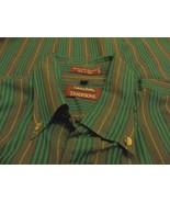 Savile Row  Button Front Long Sleeve Shirt Sz. L Green Gray - $9.89