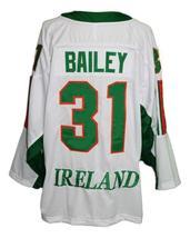 Any Name Number Team Ireland Retro Hockey Jersey White Bailey #31 Any Size image 2