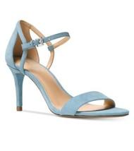 Michael michael kors mid sandal suede power blue size 9 - $56.99