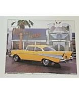 1957 Chevy Bel Air Wall Art 10x8 Yellow Car Diner 1856 San Jose CA Maxcy Flyers - $24.74