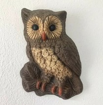 Owl Wall Plaque Vintage Owl Wall Decor 1970s Owl Wall Hanging Retro Decor - $18.81