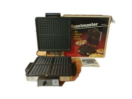 Vintage Toastmaster Waffle Pizzelle Maker 290 Iron Cookie Desert Chrome GUC - $61.75