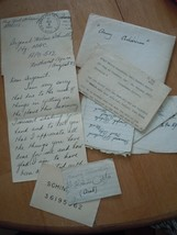 Vintage Assorted Correspondence From Soldier WWII 1940s - $4.99