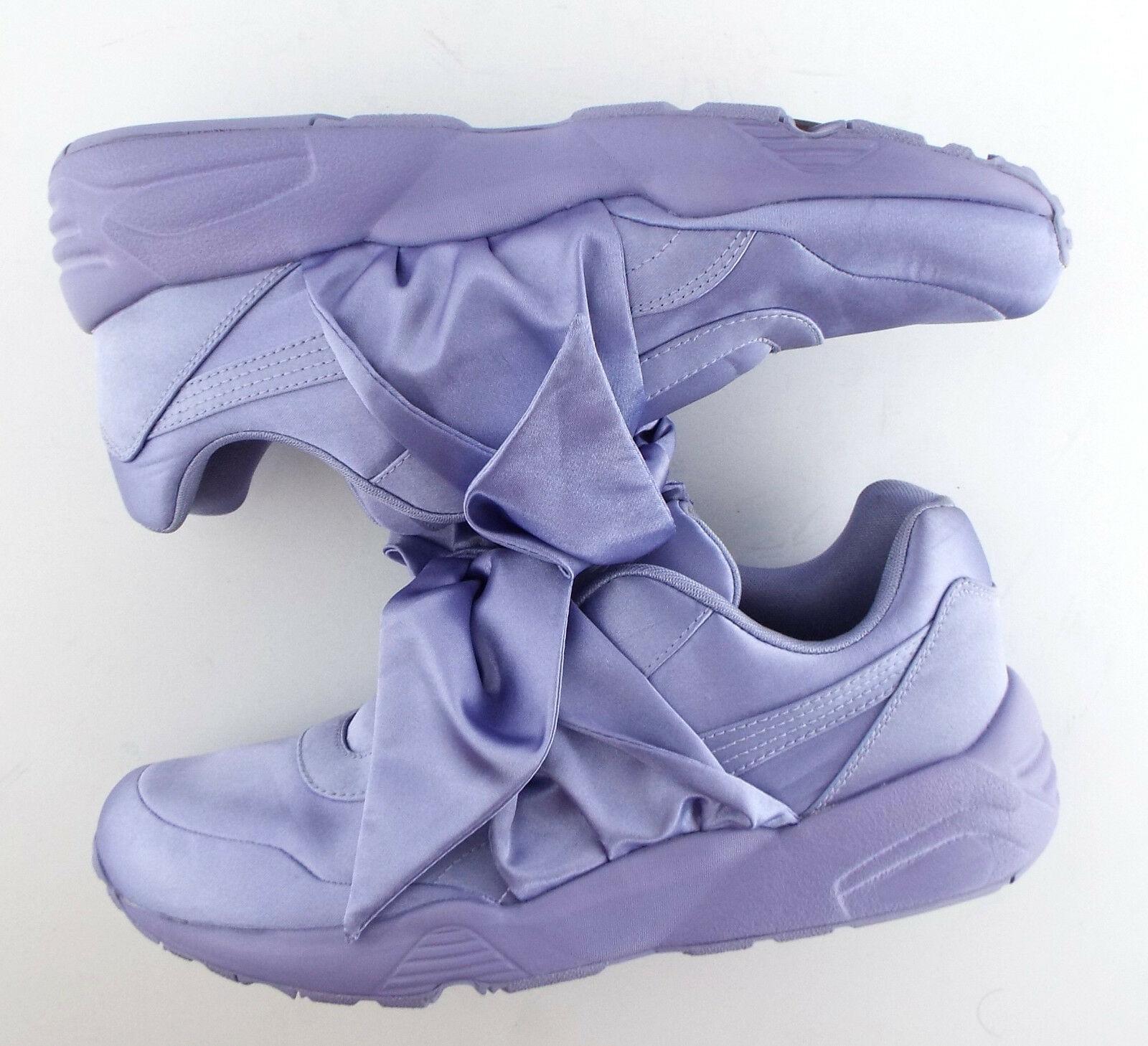 New PUMA RIHANNA Size 9 FENTY Purple Satin Bow Sneakers Shoes image 7