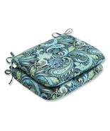 Set of 2 Sogno Paisley Blue, Green and White Outdoor Patio Rounded Chair... - $77.95