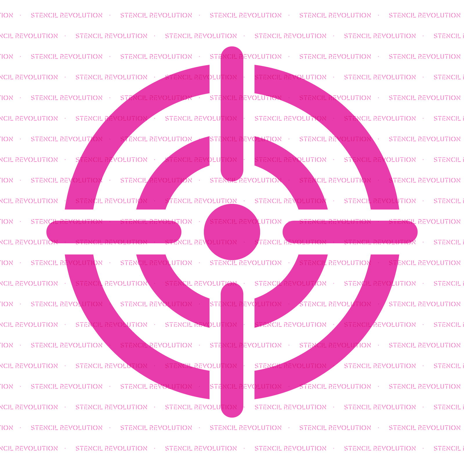 Bullseye Stencil - Reusable Stencils of Bullseye in Multiple Sizes