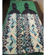 Crochet Top Kitchen Towels Blue Design Navy Top - $10.99