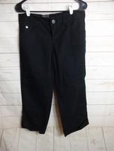 Calvin Klein Jeans Juniors Size 4 Black Cotton Blend Crop Pants  J543 - $17.99
