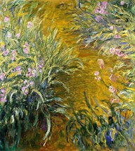 The Path through the Irises Painting by Claude Monet Art Reproduction - $33.99+
