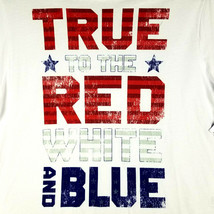 """Patriotic Mens SS T-Shirt - 3XL - White - """"TRUE to the RED WHITE and BLU... - £13.67 GBP"""