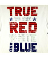 """Patriotic Mens SS T-Shirt - 3XL - White - """"TRUE to the RED WHITE and BLU... - £13.70 GBP"""