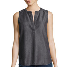 a.n.a V-Neck Tank Top Size S New Black Msrp $36.00 - £10.42 GBP