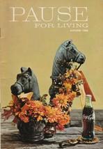 Pause for Living Autumn 1966 Vintage Coca Cola Booklet Junior Hostess Gi... - $7.91