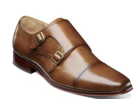 Florsheim Palermo Cap Toe Monk Strap Men's Shoes Cognac  Leather 12183-221 - $174.90