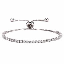 Adjustable 9 Colors Crystal Charm Bracelets For Women Fashion CZ Tennis ... - $19.70