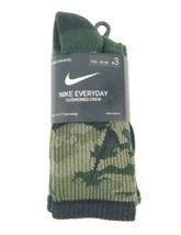 Nike Everyday Socks 3 Pairs Boys S 3Y-5Y Cushioned Crew Sock Camo Dri Fi... - $13.85