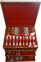 Chrysanthemum by Durgin Sterling Silver Flatware Set Service 300 Pieces Massive - $59,995.00