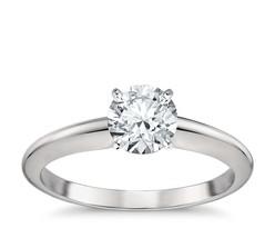 14K White Gold Charles and Colvard Forever One Moissanite Solitaire Ring - $346.49+