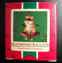 Hallmark Keepsake Christmas Ornament 1985 Skateboard Raccoon Green Wheels - $6.99