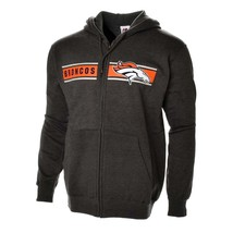 NEW Majestic DENVER BRONCOS NFL Touchback Full Zip Hoodie (Charcoal) GRE... - $54.99