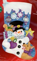 Janlynn Frostys Ornament Collection Snowman Christmas Felt Stocking Kit ... - $39.95