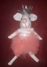 White Mouse in Pink Tutu Christmas Ornament - Princess Ballerina NEW NWO... - $8.42