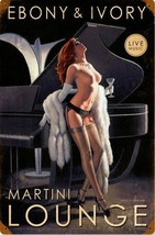 Ebony and Ivory Lounge Greg Hildebrandt Pin Up Metal Sign - $29.95
