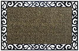 "Grassworx 10376409 Wrought Iron Stems and Leaves Doormat, 24"" x 36"" Sandbar - $34.61"