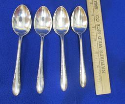 4 Vintage Gorham Silver Plate Teaspoons Invitation Pattern Spoons Flatware - $12.86