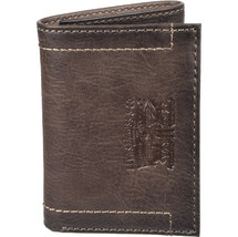 Levi's Trifold RFID Embossed Two Horses Logo Brown Credit Card Wallet for Men image 2