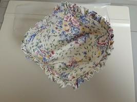 Longaberger Medium Berry Basket Spring Floral Fabric Stand Up Liner Only... - $10.84