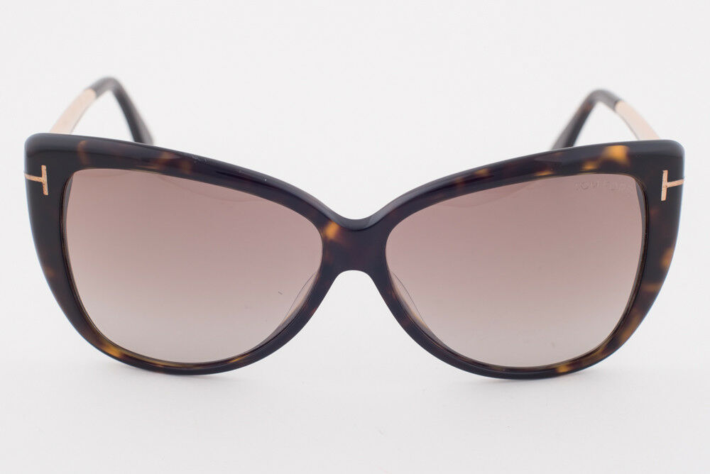 Tom Ford Reveka Dark Havana / Brown Sunglasses TF512 52G