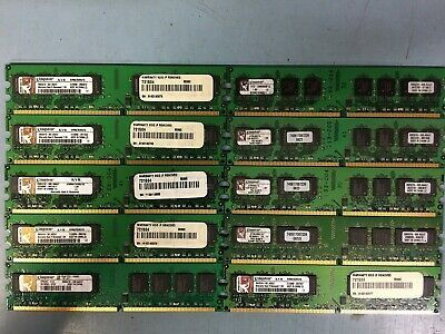 Primary image for 1GB PC2-5300U DDR2-667 CL5 2Rx8 LOT OF 10 Kingston Memory(RAM) DIMM Stick