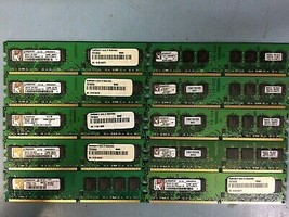 1GB PC2-5300U DDR2-667 CL5 2Rx8 LOT OF 10 Kingston Memory(RAM) DIMM Stick - $25.00