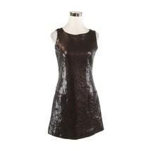 Cool brown 100% silk sequin JEANETTE KASTENBERG vintage A-line dress 10 M - $499.99