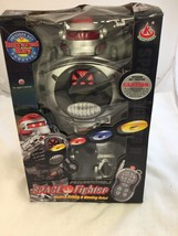 Space Fighter Battery-Powered Remote Control Disc-Shooting Battle Fighti... - $12.35