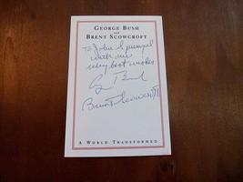 GEORGE H.W. BUSH BRENT SCOWCROFT SIGNED AUTO A WORLD TRANSFORMED BOOKPLA... - $494.99