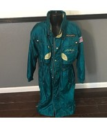 DESCENTE JOHN HANCOCK GREEN GOLD WINTER LONG TRENCH COAT JACKET 8750 SMA... - $168.25