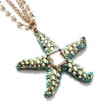 G28 Chico's Starfish Statement Necklace pendant summer beach jewelry - $36.74