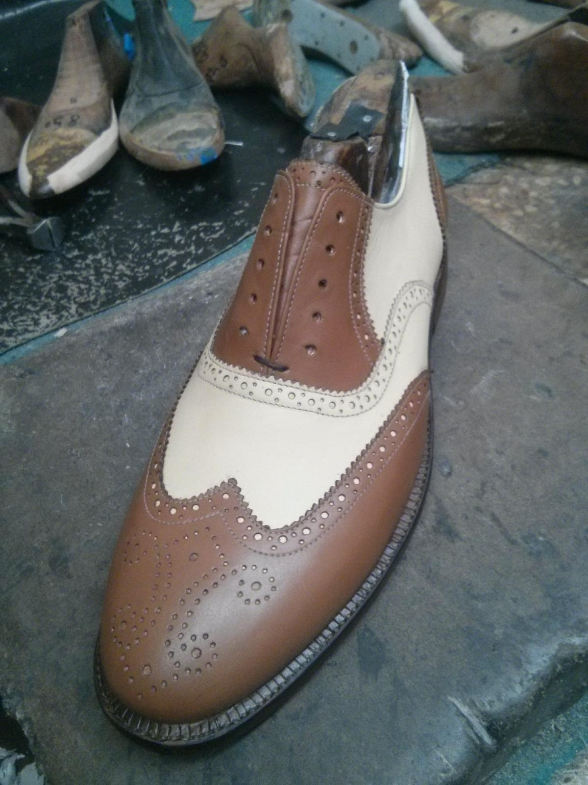 Primary image for Two Tone Leather shoes for Men Custom Made Brogue shoes for Men Top Quality Shoe