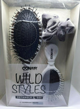 Conair Wild Styles Detangle & Go Brushes and Scrunchie, Set of 3 New In Box - $12.82