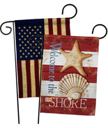 Welcome to the Shore - Impressions Decorative USA Vintage - Applique Gar... - £24.94 GBP