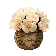 George Jimmy Artificial Flowers Cafe Decoration Table Ornaments-White - $32.96